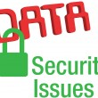 Data security issues secure lock — Stock Vector