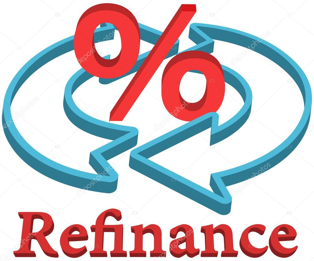 Refinancing A Home Loan Refinance home mortgage loan  Stock Vector #32689425