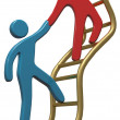 People help join up success ladder — Stock Photo