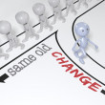 cambiamento di persona scelta andare nuovo percorso — Foto Stock