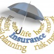 Insurance agency umbrella risk planning services — Stock Photo