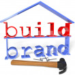 Build business brand promotion ad tools — Stock Photo