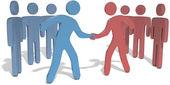 People team leaders reach agreement — Stock Photo