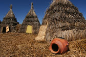 Straw Indian Tents — Stock Photo