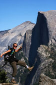 Hiker at the Edge - Yosemite — Stock Photo