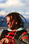 Happy dreadlock man — Stock Photo