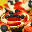 Fresh Fruit Tarts — Stock Photo
