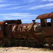 Stock Photo: Abandoned steam train at Altiplano, Bolivia