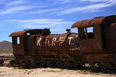 Abandoned steam train at Altiplano, Bolivia — Stock Photo