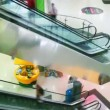 Shopping Mall Escalators — Stock Video