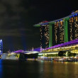 Stock Video: Marinbay sands at night