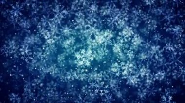 Snowflakes background — Stock Video