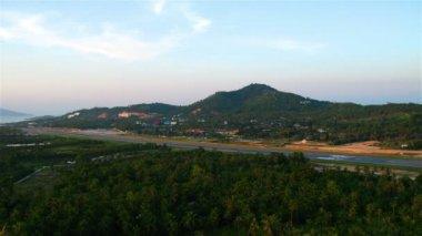 Letiště na ostrově samui, Thajsko — Stock video