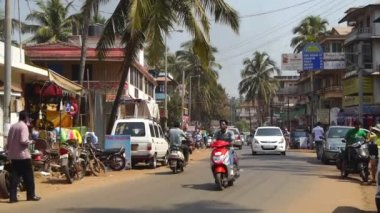 Streets of Goa India — Stock Video