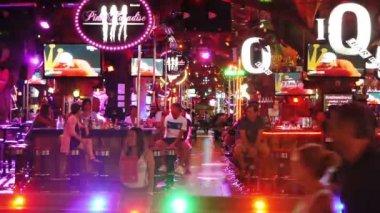 Night Walking Street, Patong, Thailand — Stock Video