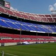 Stock Video: Nou camp stadium, Barcelona, Spain