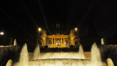 Singing fountains, Barcelona — Stock Video