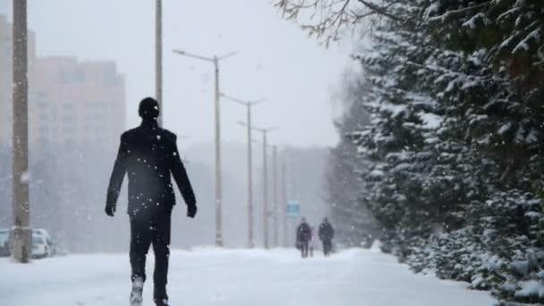 Calle invierno — Vídeo de stock
