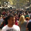 Street crowd slowmotion — Stock Video