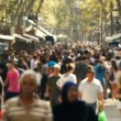 Stock Video: Street crowd slowmotion