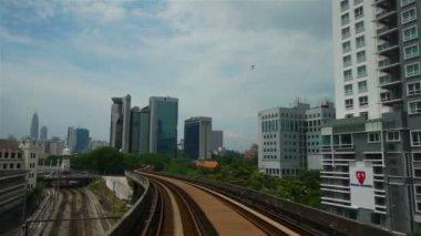уличное движение в куала-лумпуре, малайзия — Стоковое видео