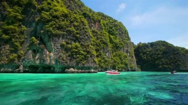 Boat trip to tropical islands, Thailand — Stock Video