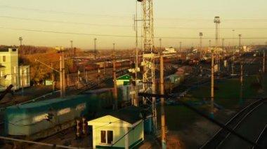 Railway yard — Stock Video
