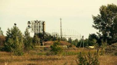 Military radar station — Stock Video