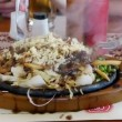 Sizzler, tradition indian meal — Stock Video