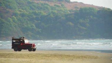 Beach lifeguard — Stock Video