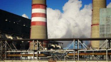 Coal-burning power plant — Stock Video