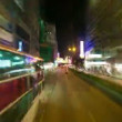 HONG KONG - SEPTEMBER 3, 2012: Bus ride on busy street in the centre of Hong Kong, timelapse. — Stock Video
