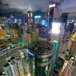Royalty-Free Stock Vector Image: Hong Kong at night from roof, timelapse