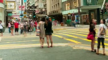 Hong Kong - September 3: autoverkehr im Zentrum auf einem anstrengenden Tag, Timelapse. 3. September 2012, Hong kong. — Stockvideo