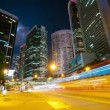 Stock Video: Street traffic in Hong Kong at night, timelapse