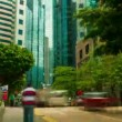 Street traffic in Hong Kong, timelapse - Stock Photo