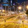 Royalty-Free Stock Vector Image: Street traffic in Hong Kong at night, timelapse