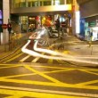 Street traffic in Hong Kong at night, timelapse — Stock Video