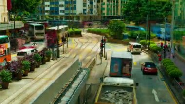 HONG KONG - SEPTEMBER 4, 2012: Street traffic in Hong Kong at a busy day, timelapse. — Stock Video