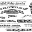 Collection of Vintage United States Elements - Stockfoto