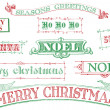 Vintage Christmas Stamps — Stock Photo