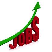 Groei van de dramatische werkgelegenheid — Stockfoto
