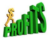 日益增多的利润 — 图库照片