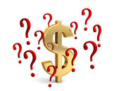 Dollar In Question — Stock Photo