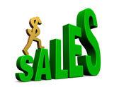 Climbing Sales — Stock Photo