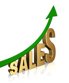 Suben las ventas! — Foto de Stock