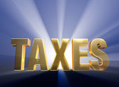 Bold Taxes — Stock Photo
