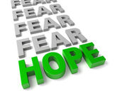 Espoir surmonte la peur — Photo