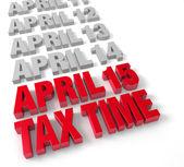 Tax Time April 15th — Stock Photo