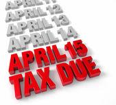 4 月 15 日应收税款 — 图库照片